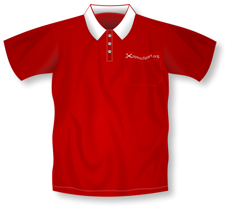 red polo shirt clip art
