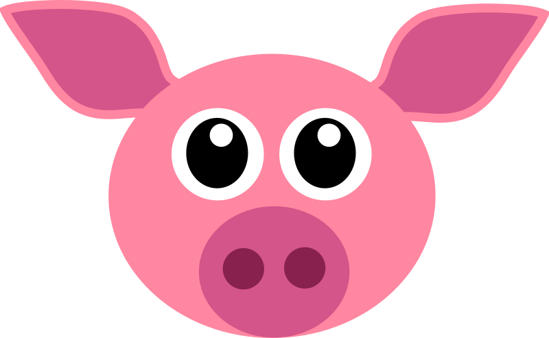 Free Clip Art Cochon Pig Face By Martouf