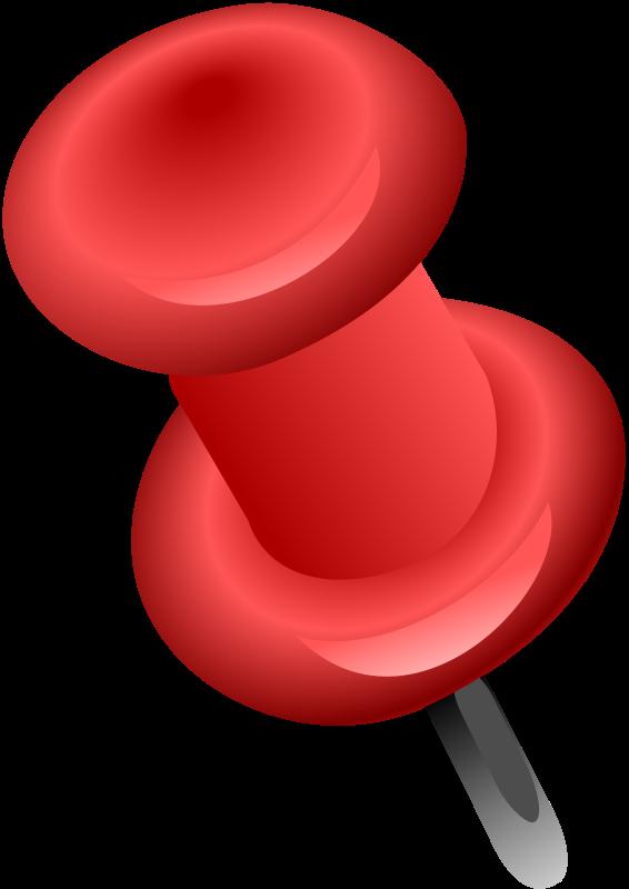 Free Clip Art Punaise Rouge By Defaz36