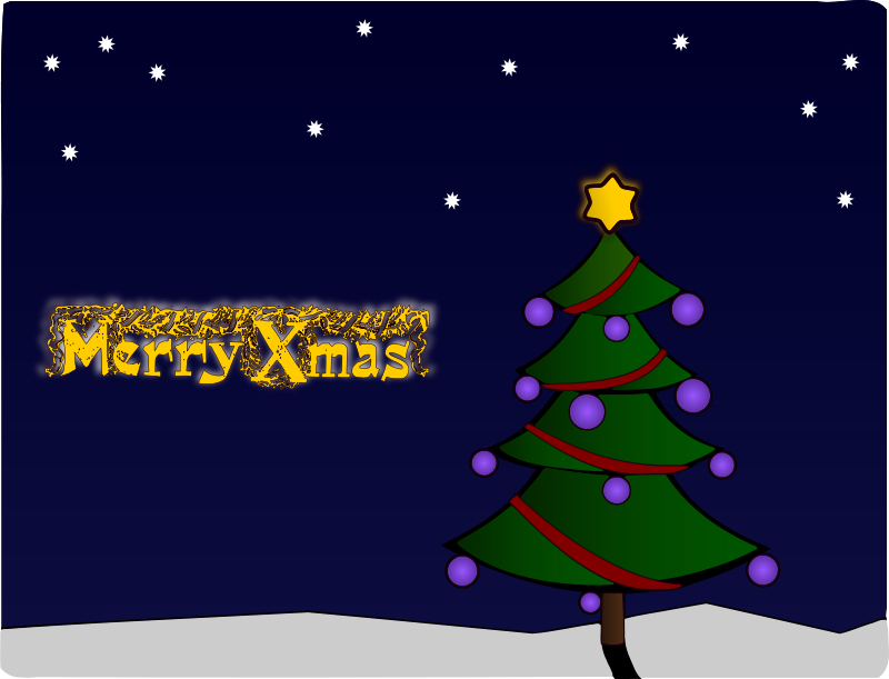 Free Clip Art Colour Christmas Tree Card By J4p4n