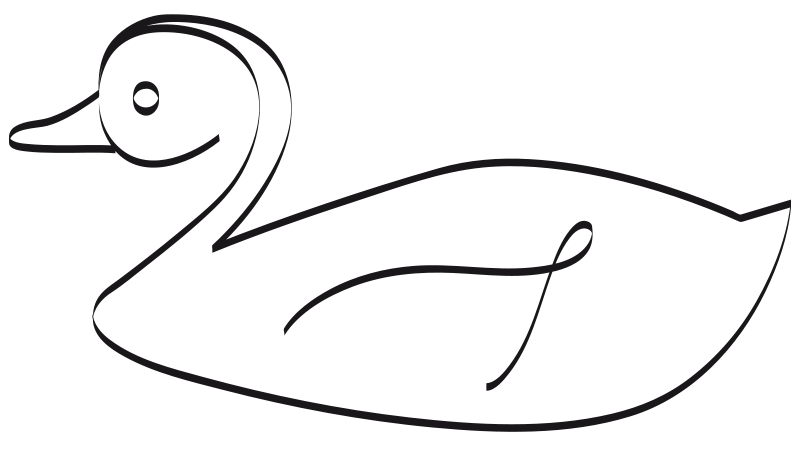 Free Clip Art Canard By Presquesage