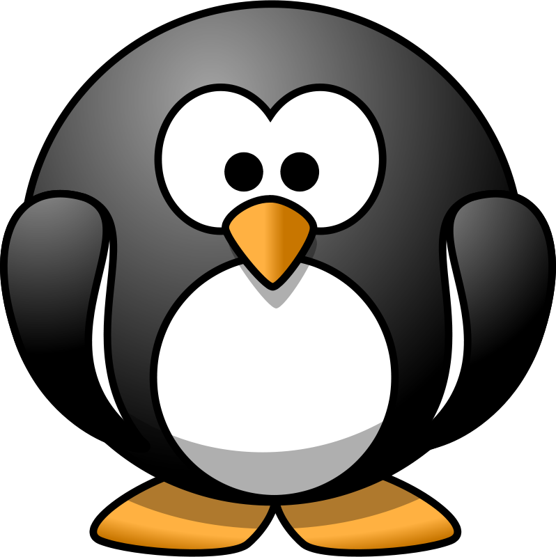 Free Clip Art Cartoon Penguin By Lemmling