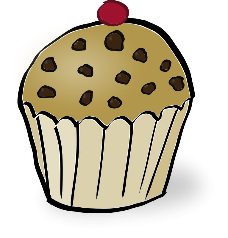Free Clip Art Chocolate Chips Muffin By Rubejar