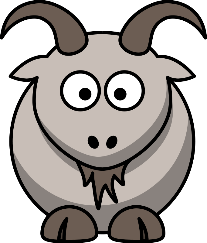 free clip art cartoon goat by lemmling rh stockio com clip art goats free clip art goat cheese
