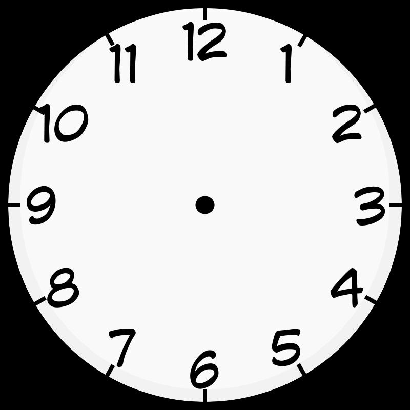 Free Clip Art Clock Face By Purzen