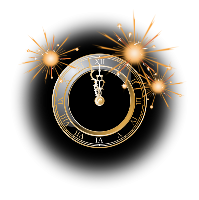 free clip art new year clock by gnokii