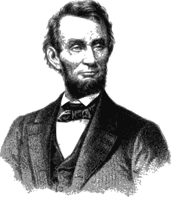 free clip art abraham lincoln 1865 by j4p4n rh stockio com abraham lincoln monument clipart abraham lincoln clipart black and white