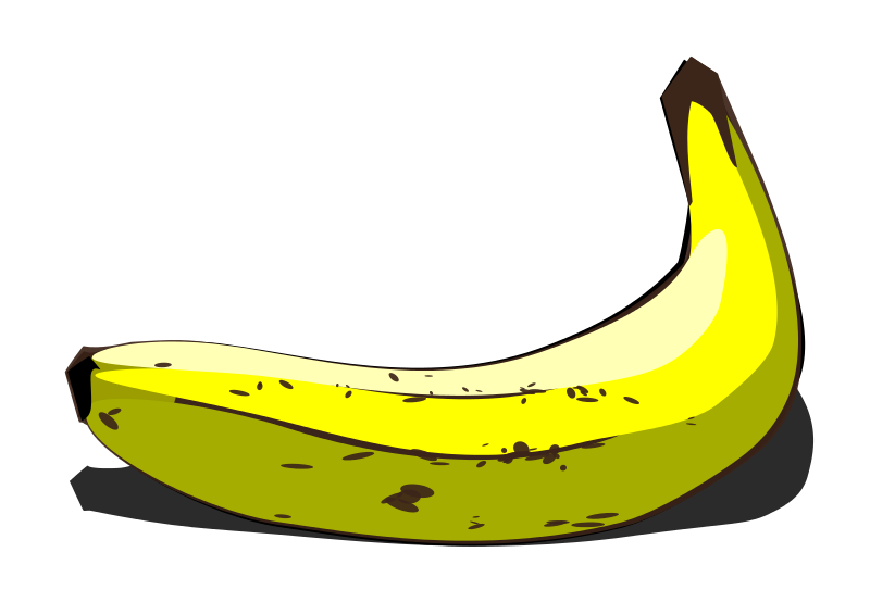 Free Clip Art Banana By User Unknown