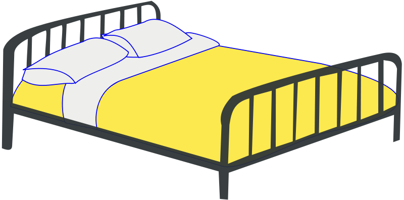 Free Clip Art Double Bed By Rfc1394