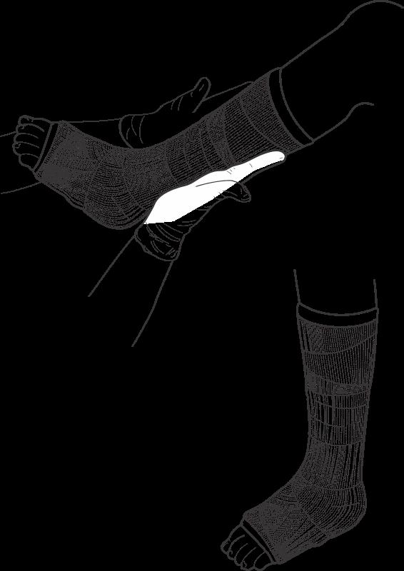Free Clip Art Leg Cast By Jicjac