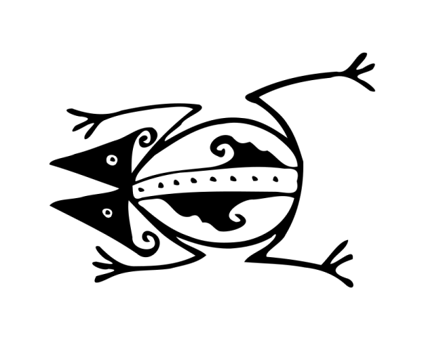 Free Clip Art Loup Tribal By Loup Org