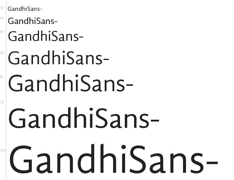 Free Font Gandhi Sans By Librerias Gandhi S A De C V
