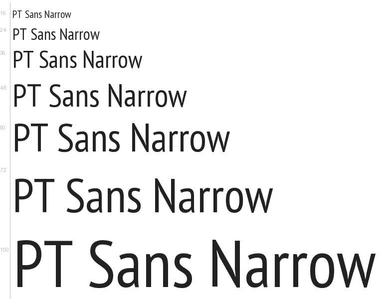 pt sans narrow bold font free