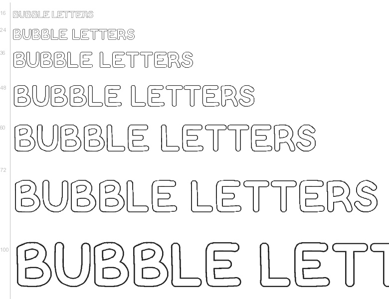 free font bubble letters by vanessa bays