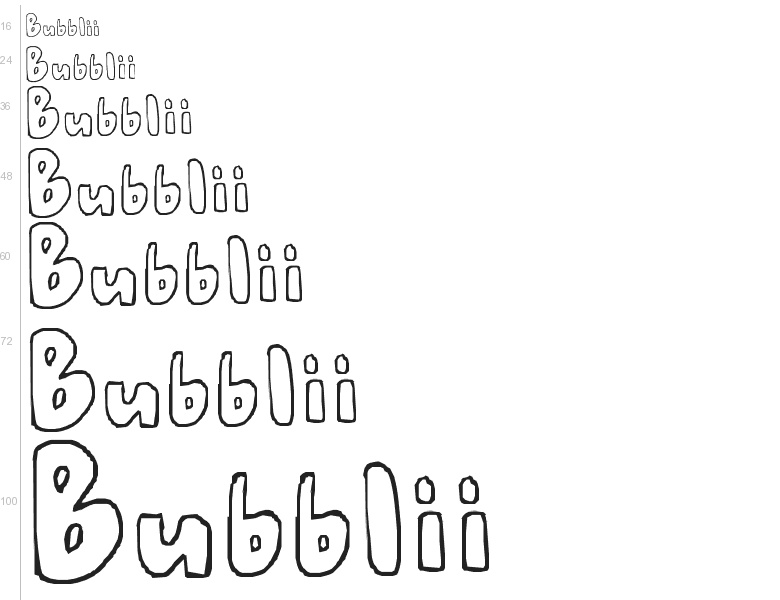 free font bubblii by the bubble letters