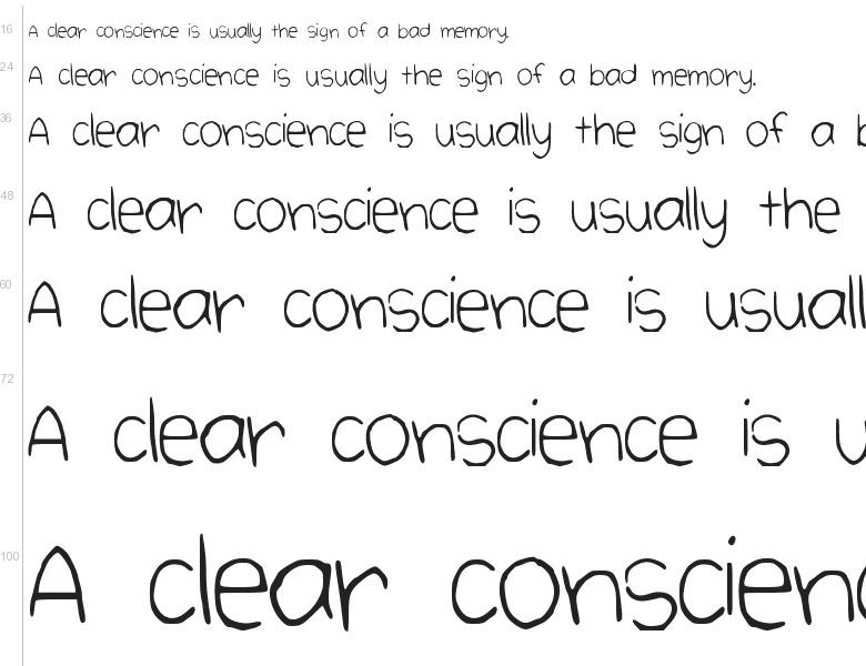 "Free font ""Cute Handwriting"" by Paula Tennet"