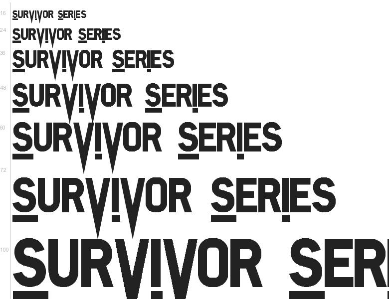 """Free font """"Survivor Series"""" by Jayde Garrow"""