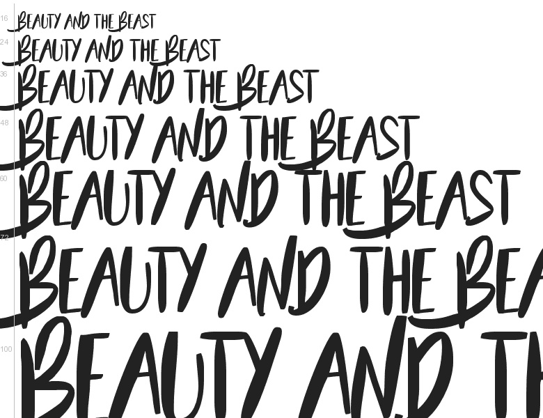 Free Font Beauty And The Beast By Francis Studio