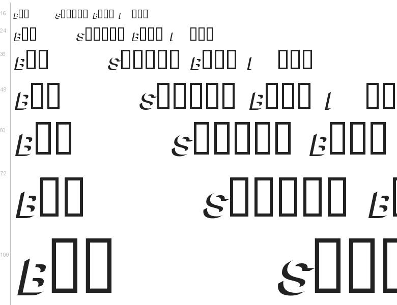 Block Italic Font