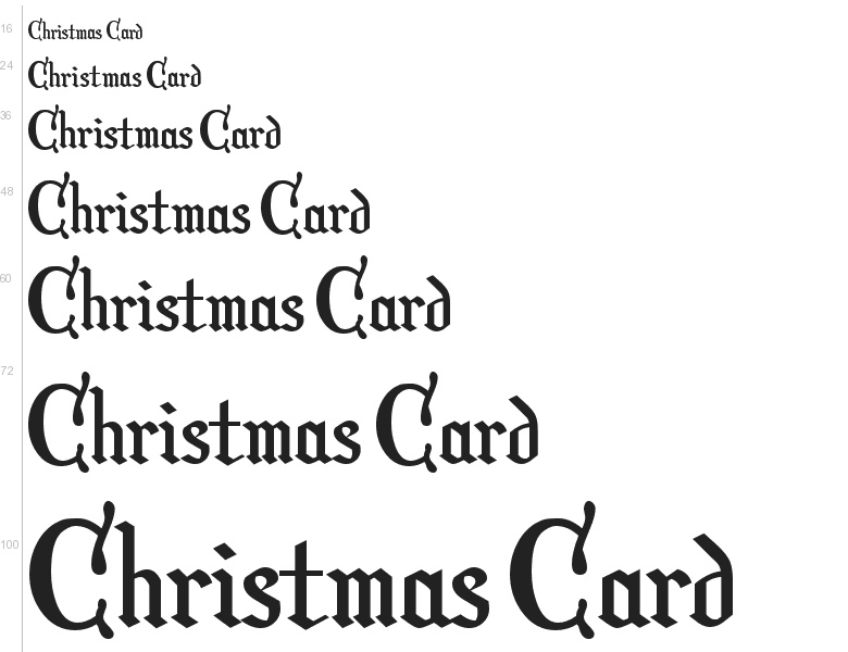 free font christmas card by harold s fonts