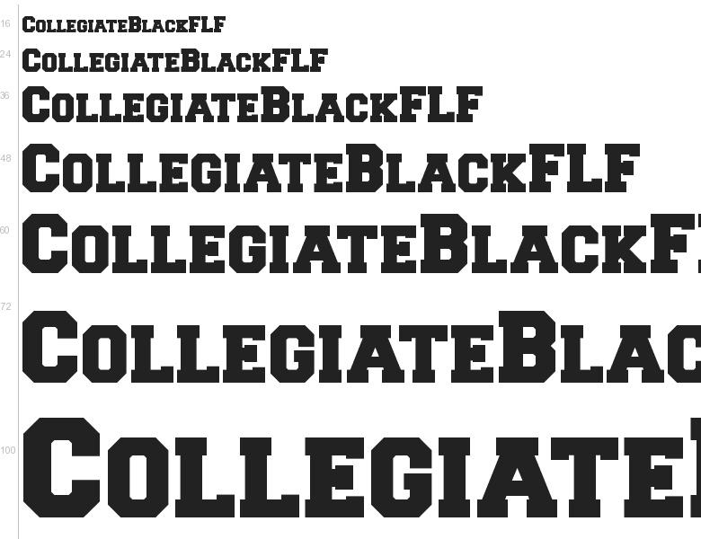 Free Font Collegiate Flf By Casady Greene