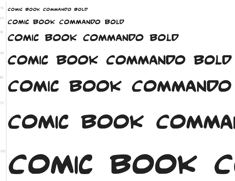 Free Font Comic Book Commando By Iconian Fonts