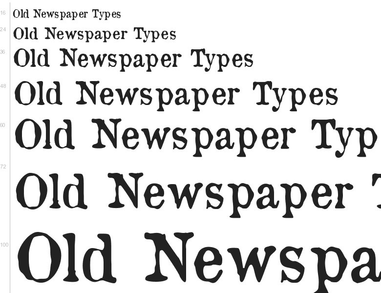 Old newspaper font for android