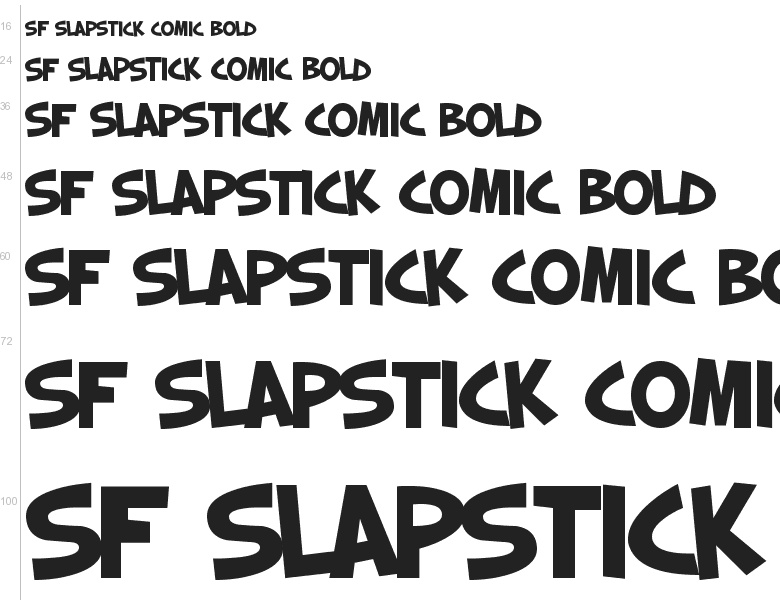 Free Font SF Slapstick Comic By ShyFonts