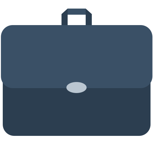 Material briefcase icon