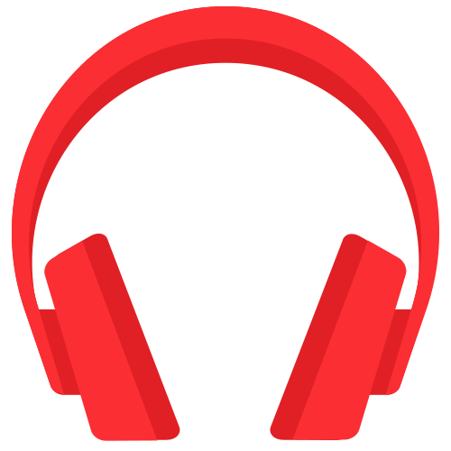 Material headphones icon