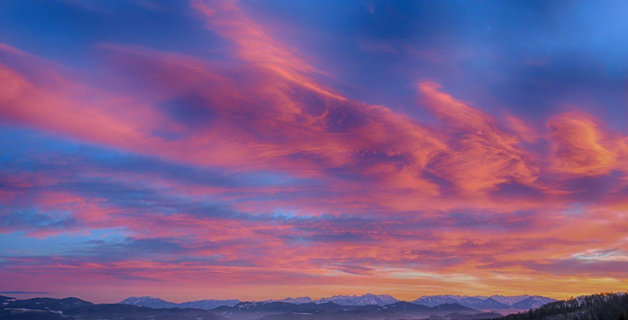 "Free photo ""Winter Sunset"""