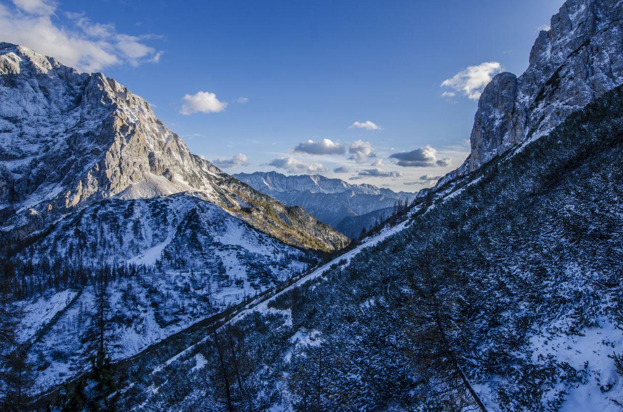"""Free photo """"Mountain Snow Peak Blue Sky"""""""