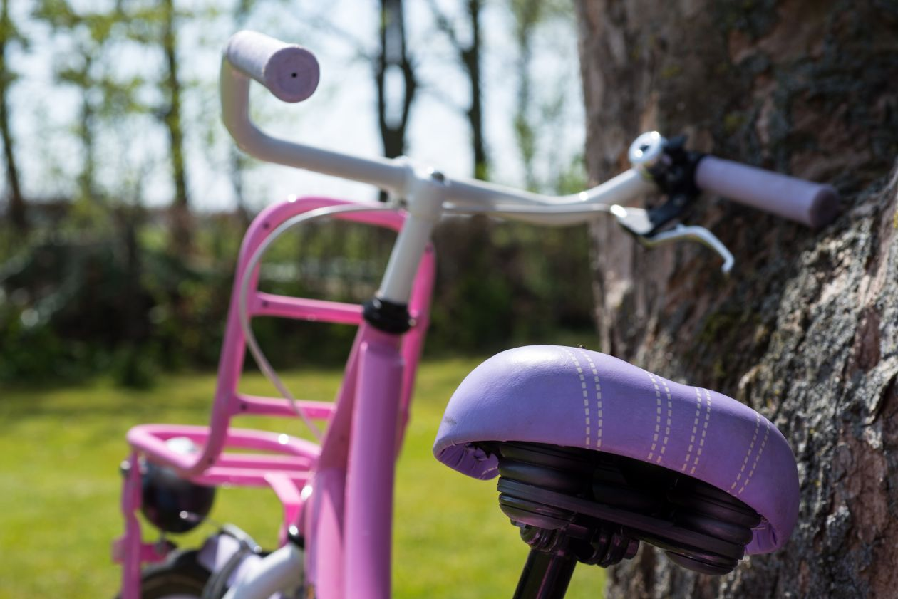 "Free photo ""Little girls bicycle"""