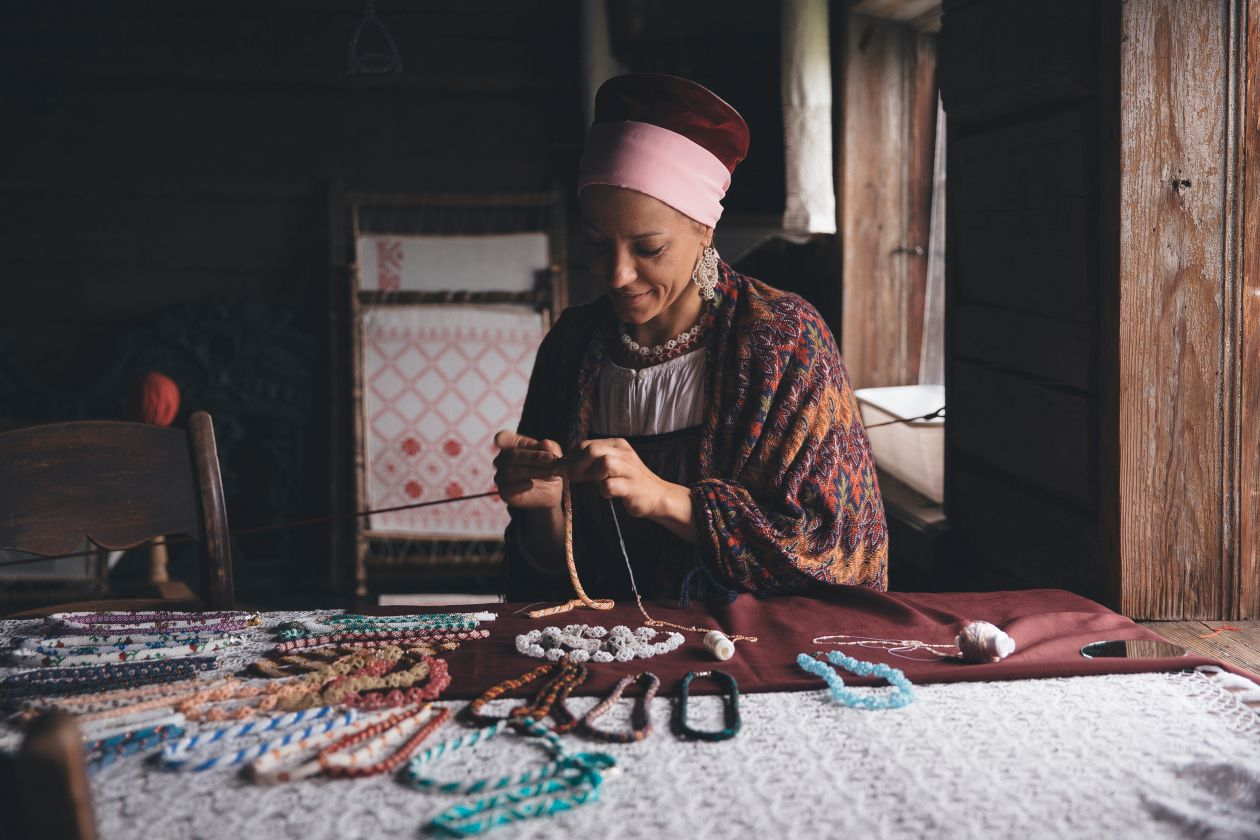 "Free photo ""Russian woman-artisan"" by Anthony Ginsbrook"