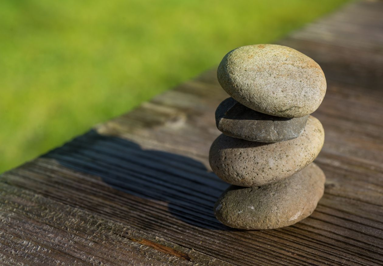 "Free photo ""Stacked little rocks"""