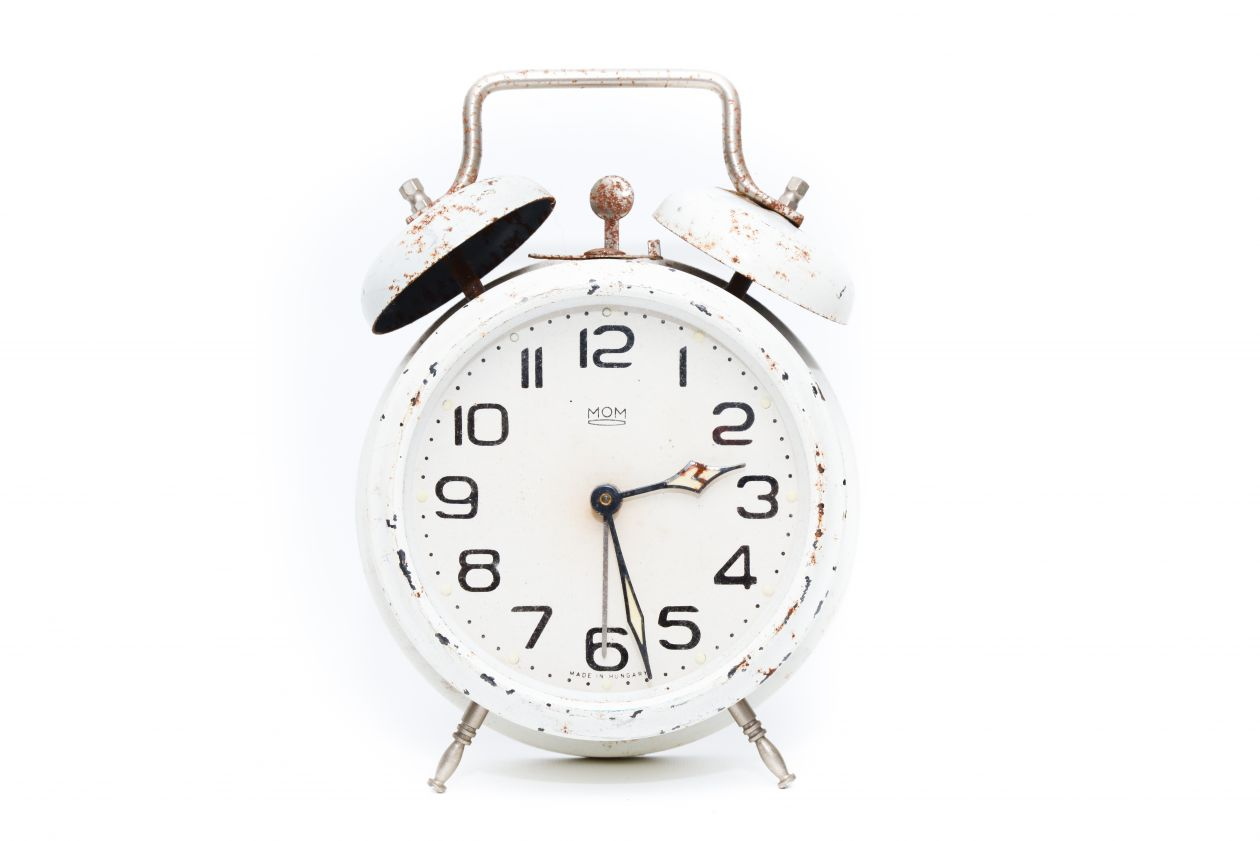 "Free photo ""Alarm clock white"""