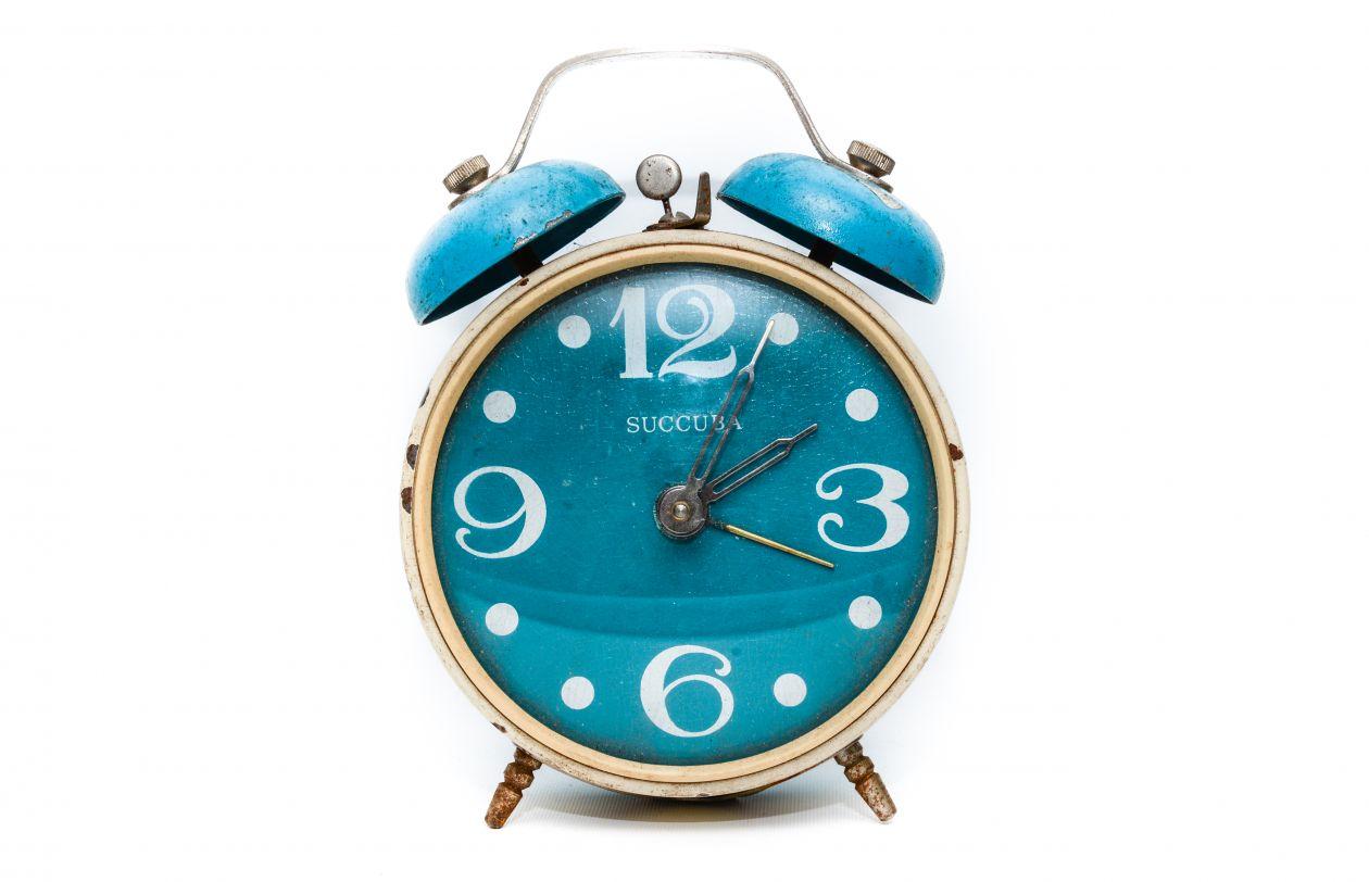 "Free photo ""Alarm clock blue"""