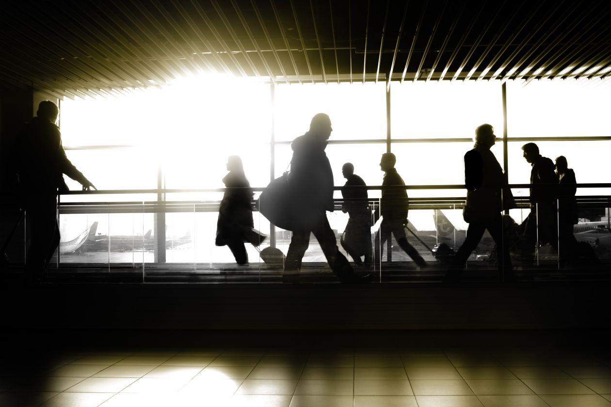 """Free photo """"Passengers airport"""""""