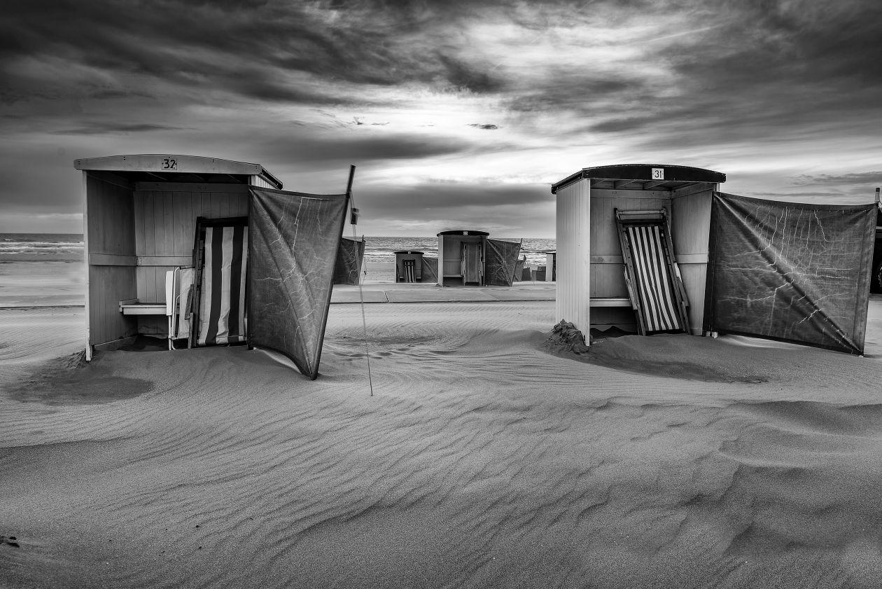 "Free photo ""Monochromatic Cabins"""