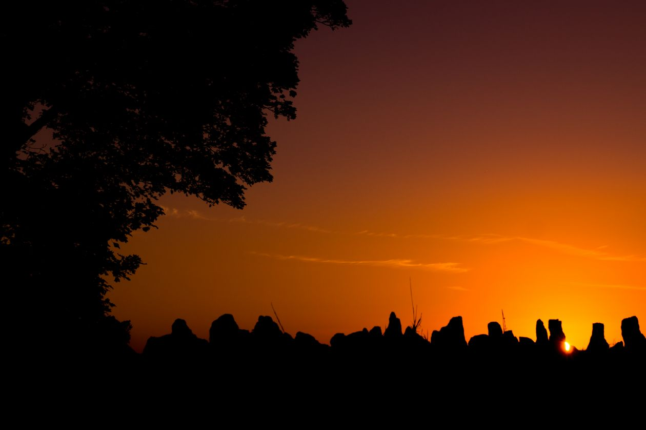 "Free photo ""Sunset in orange"""