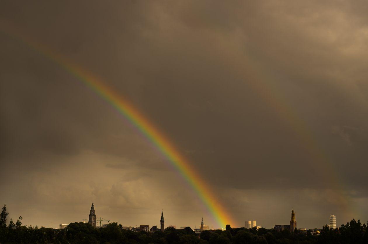 """Free photo """"Double rainbow"""""""
