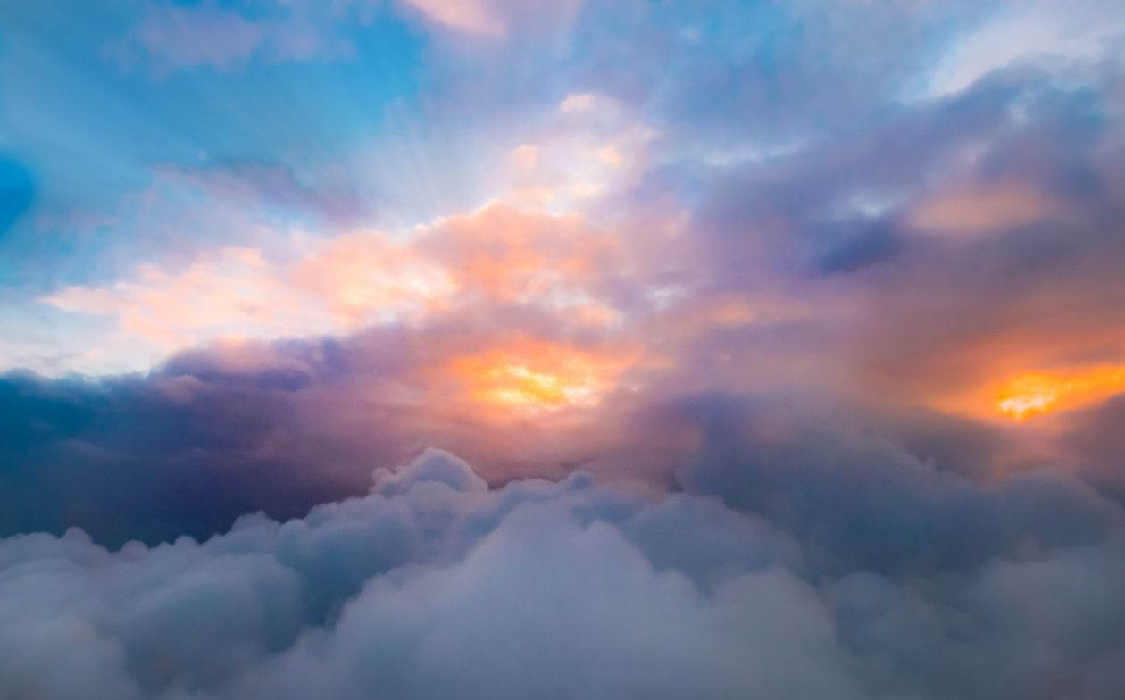 """Free photo """"Cloudscape from a plane"""""""