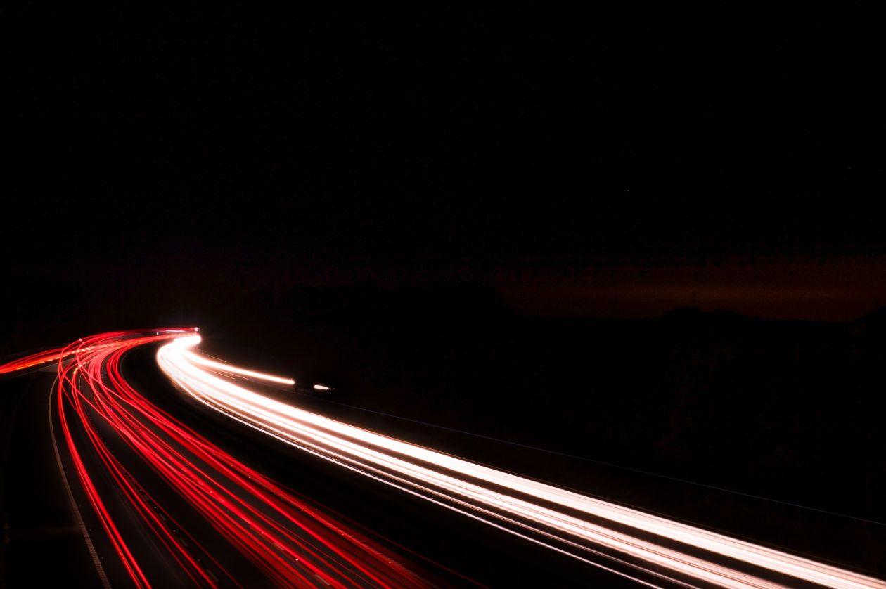 "Free photo ""Long exposure high way"""