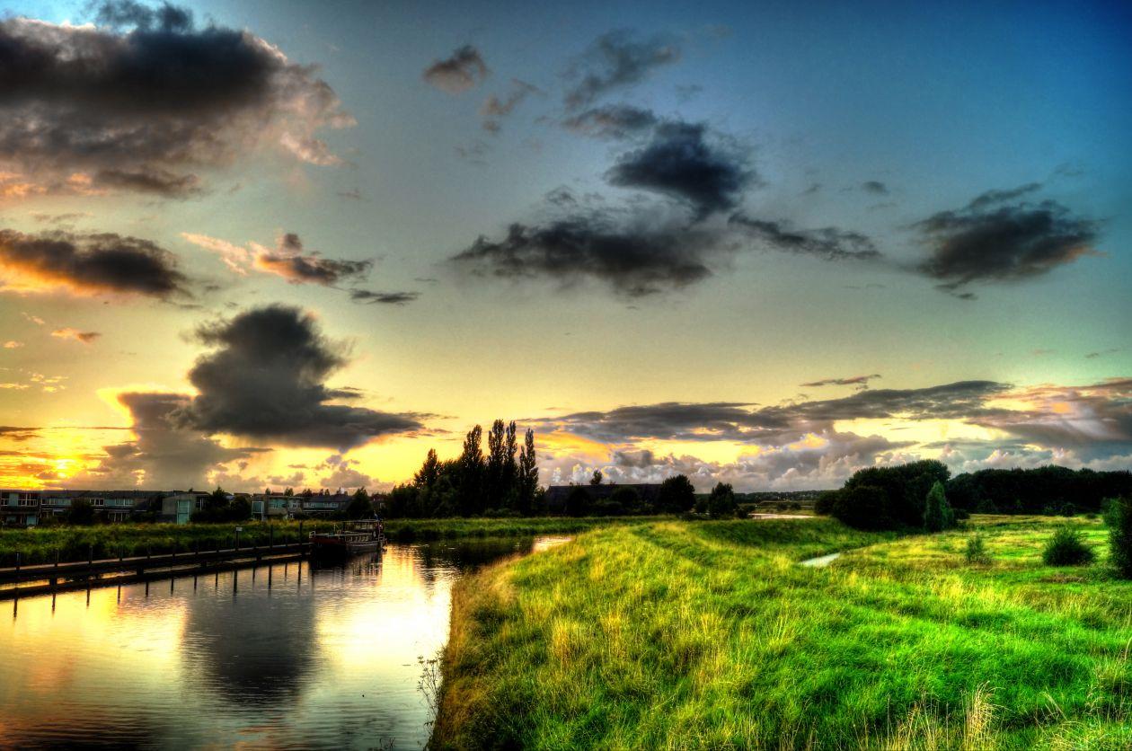 """Free photo """"Canal near Reitdiep"""""""