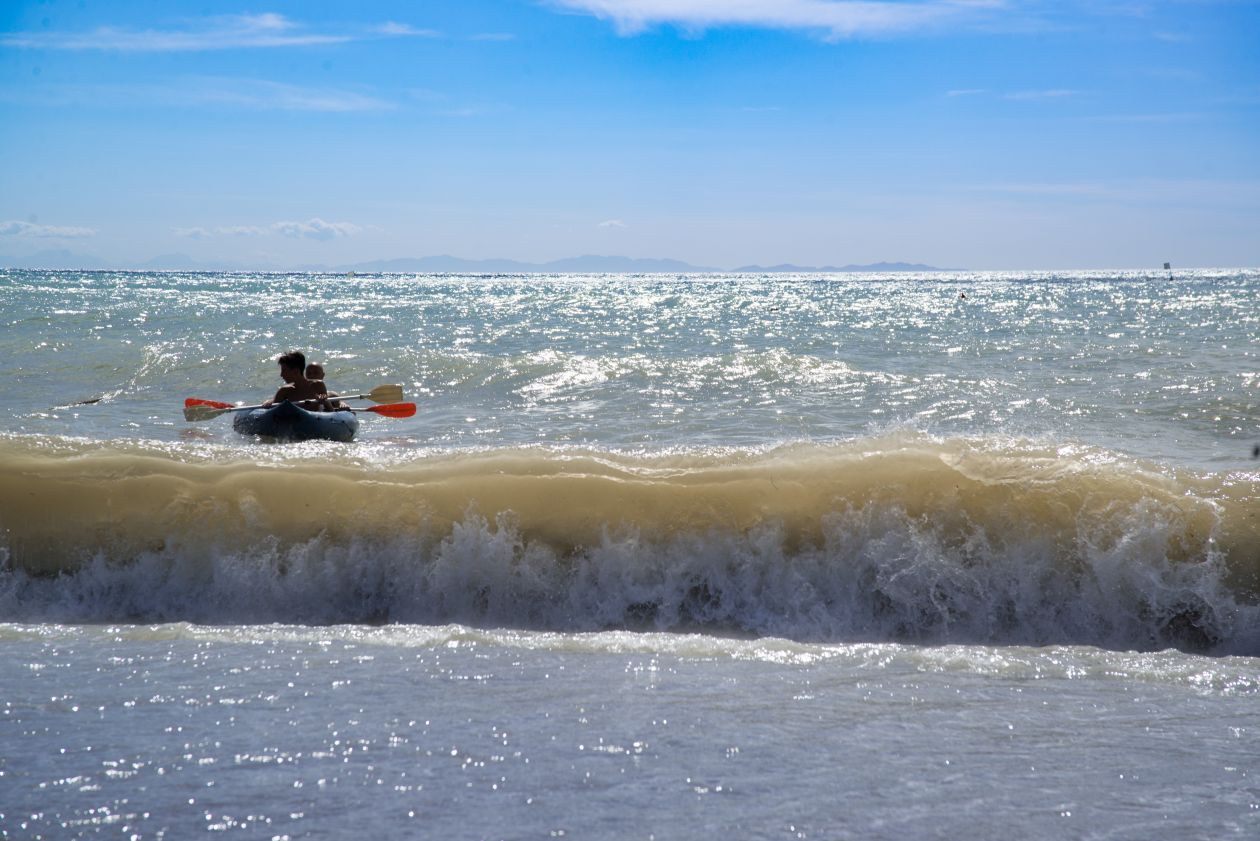 """Free photo """"Rowing the shore"""""""