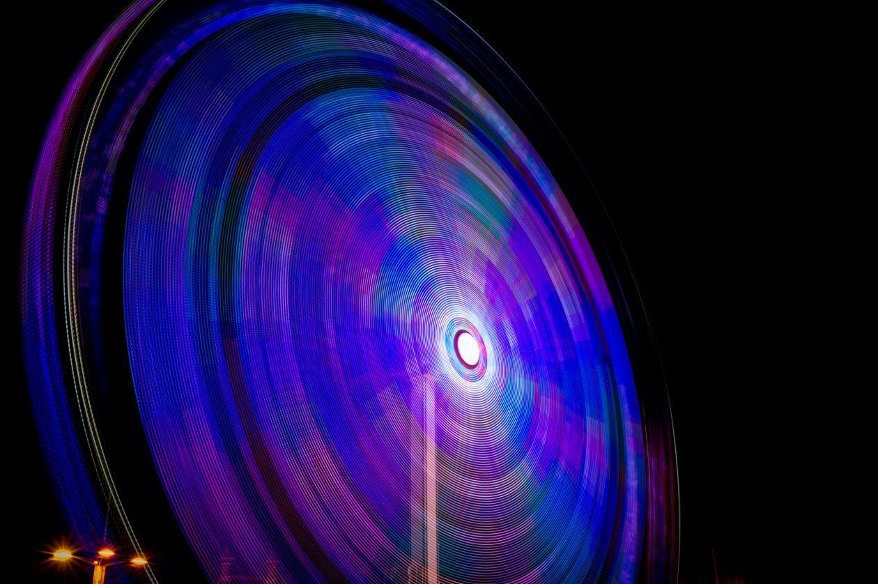 "Free photo ""Long exposure ferris wheel"""