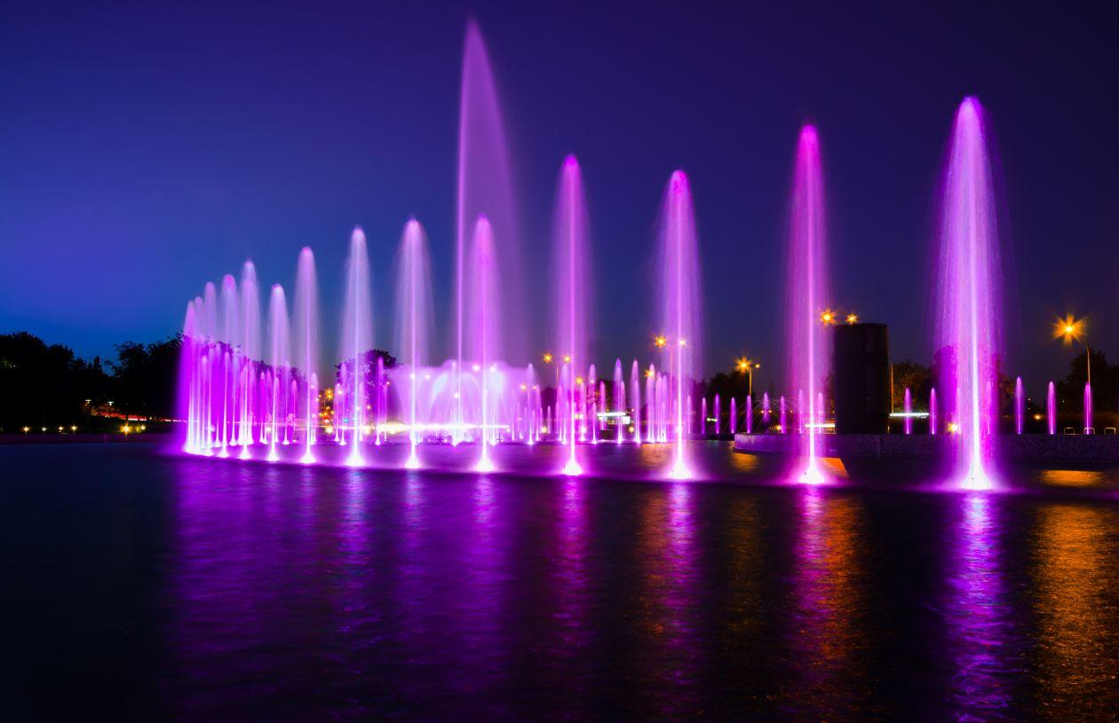 "Free photo ""Fountain in Warsaw"""