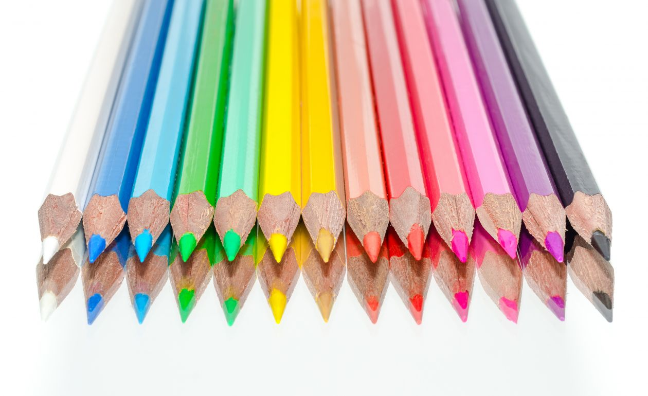 "Free photo ""Pencils in a row"""