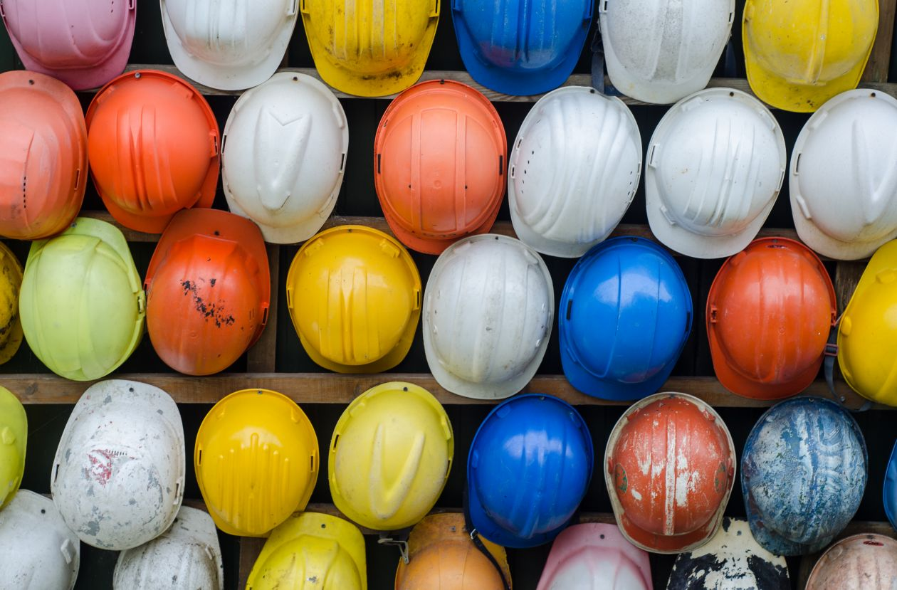 "Free photo ""Construction helmets"""