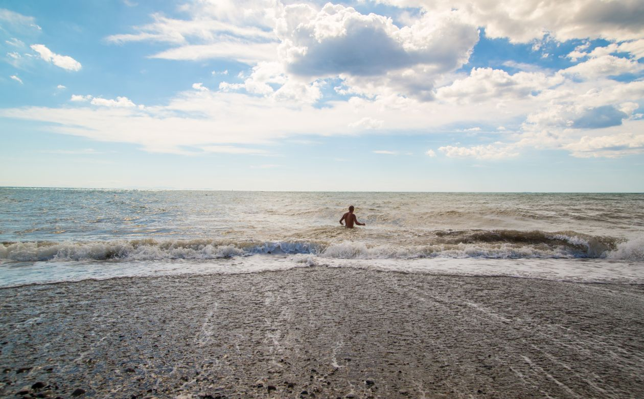 "Free photo ""Man in the sea"""